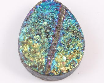 Amazing Natural Druzy A Beautiful Quartz Gemstone Diffrent Style Pear Shape Shining Colour 40.00 Cts. Size 23 X 30 X 7 MGJ 205