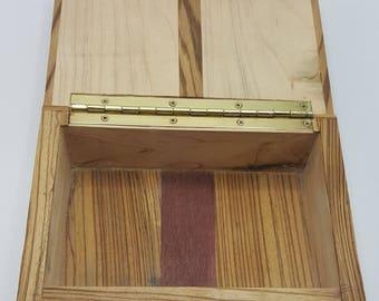Maple and Zebra wood Box