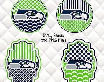 Seattle Seahawks  - SVG, Silhouette studio bundle - 4 design download