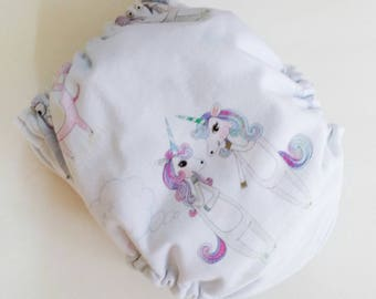 Ai2 Cloth diapers, All in Two Cloth Diapers, Ready to Ship, Unicorns and Hippos, Bamboo Cloth Diapers, One Size, Aio Cloth Diapers