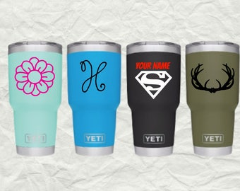 Vinyl Decals // Yeti // Cup // Car // Car Decals