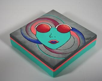 Sunglasses Girl Original Acrylic Painting