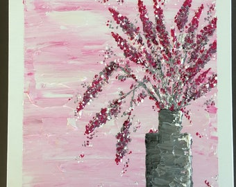 Acrylic Painting (Pinks and Grey's)