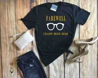 Elton John Shirt, Elton John Concert Shirt, Yellow Brick Road Tour, Elton John Concert Tee, Farewell Elton John, Elton John Lyrics, Elton