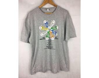 CONVERSE Tshirt Short Sleeve Tees With Big Logo LL Size