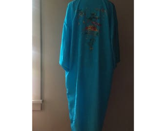 Embroidered Dressing Gown