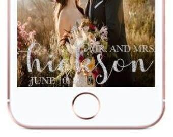 Custom Wedding Geofilter   Snapchat Geofilter