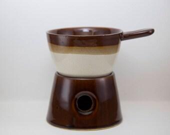 Vintage Taiwan Brown Pottery, Bean Pot, Crockery, Warmer, Wax Melts,Wax Warmer, Oil Diffuser, Burner, Aromatherapy