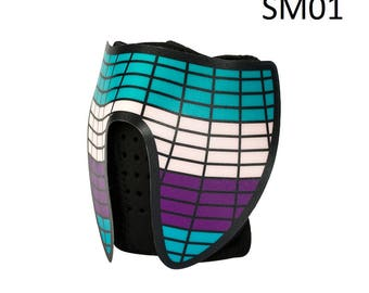Light Up EL Rave Mask Sound Reactive Neon EDM Fancy Dress Cosplay