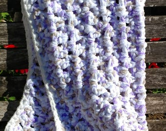 Bernat chunky baby blanket-v stitch crochet blanket-thick and warm baby blanket-newborn blanket-gender neatural