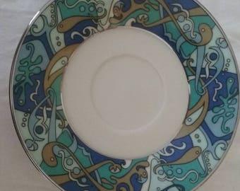 Antique Lenox Fine China Plate/Replacement/Fish/Art Deco/Imagination/Dinnerware/Single/Dish/Gift