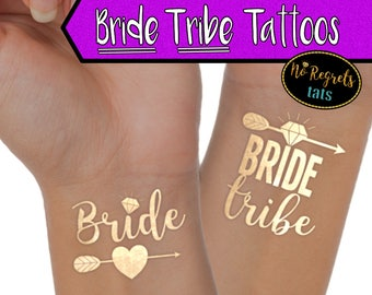 Bride Tribe Tattoos for Bachelorette Party / Find your tribe / party accessories / Tribe Temporary Tattoo / Flash tattoo / stagette party