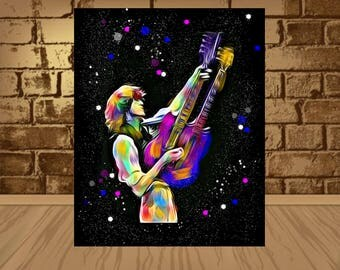 jimmy page poster,jimmy page art,jimmy page print,Led Zeeppelin poster,Led Zeeppelin print,Led Zeeppelin art,jimmy page,rock poster,rock art
