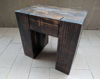 Stool/coffee table in solid wood