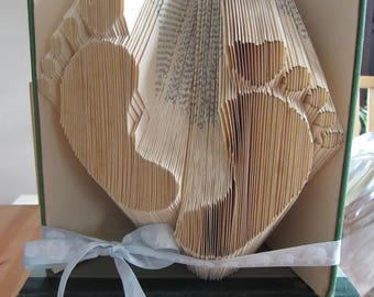 Baby Footprint Origami Book