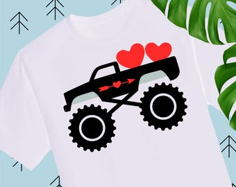 Boy Valentine SVG Valentine Truck Svg Valentines Day svg Valentine Shirts for Boys svg file for cricut silhouette truck svg cutting