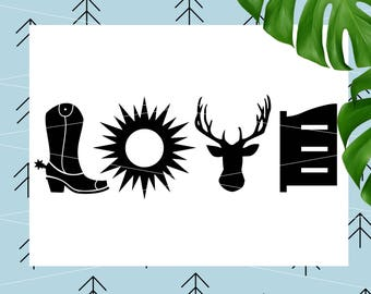 Country Love SVG Hunting Svg Country SVG Deer Antlers SVG Cowboy boot Svg file for Cricut Silhouette cut file svg dxf png eps lfvs