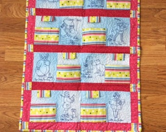 Baby/Toddler storybook play quilt