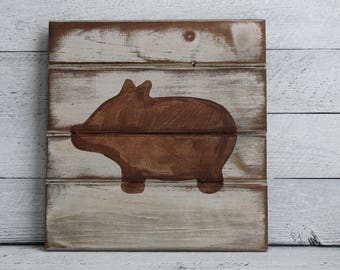 Farmhouse Kitchen Wall Decor - Rustic Kitchen Decor Wall - Rustic Pig - Rustic Nursery Decor - Rustic Animal Wall Decor - Farmhouse Animal
