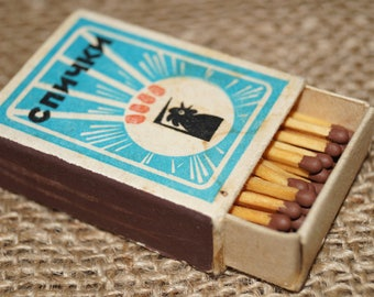 Matchbox Soviet USSR Box Soviet era Matches USSR Soviet matches Collection matches Old matchbox Matchbox soviet Made in USSR Matchess Old