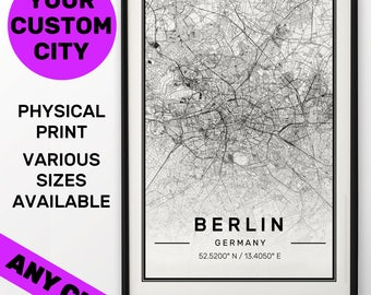 Custom Map Print, Custom Map, Custom City Map, City Map Print, Map 50 x 70 cm, Map, Map Print, Custom Street Map, Map Poster, City Map, Gift
