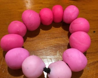 Handmade Clay Worry Beads (Pink Ombre)