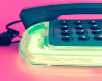 Retro Neon Phone (Green)