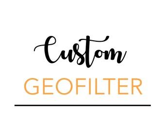 Fully Custom Snapchat Filter, Custom Geofilter, Match Your Invite, Rush Delivery, Custom Birthday Geofilter, Custom Wedding Geofilter