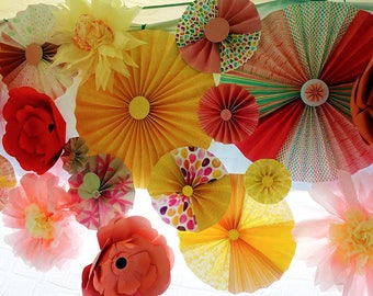 Decorative Pinwheels, Pinwheels for backdrops for home and parties