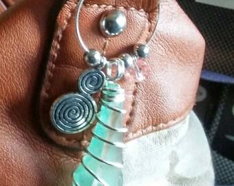 jewelry purse and wine glass jewelry sea glass