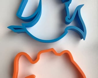 Dory and Nemo cookie cutters - 2 pack