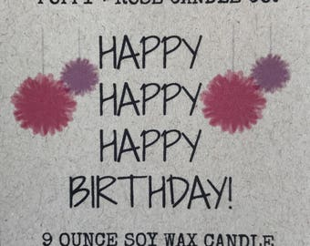 The original CANDLEGRAM!! Choose your own label and scent- ships same day! Gift for friend. Birthday. Mom.