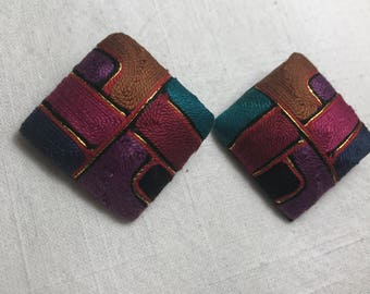 Vintage Color Block Earrings