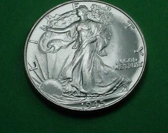 1945 Walking Liberty Half Dollar Gem Brilliant Uncirculated  <>ETB6735