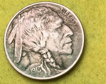 1913-P Indian Head Nickle Original Type 1 XF<> Coin you see is Coin you get / Free S&H on this order  <>#BCE-535