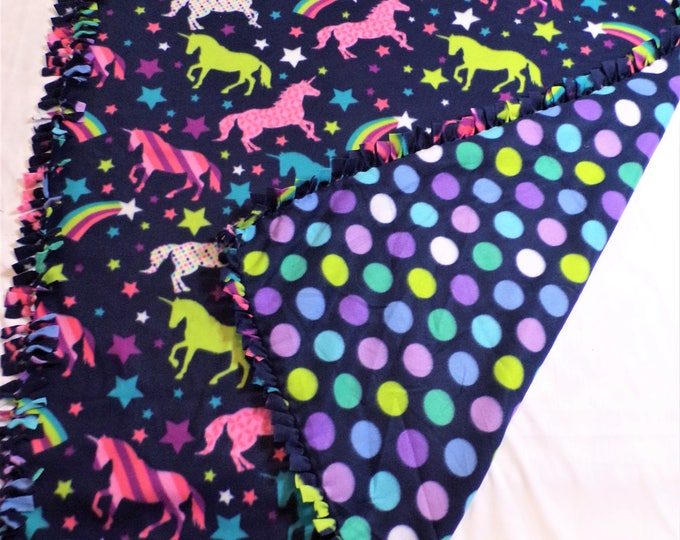 Featured listing image: Unicorn Party Fleece Blanket