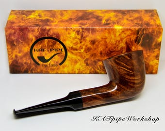 BRIAR Pipe Dublin/Brier wooden pipe/Handcrafted Tobacco Smoking pipe/Handmade wooden pipe/Dublin pipe/Italy Brier/Only 1 available pipe