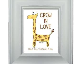 Giraffe Love - Framed Art