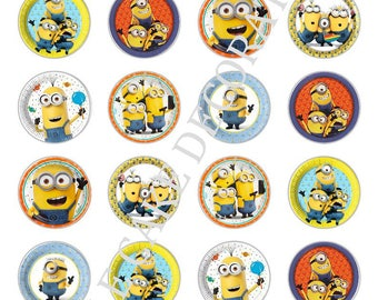 24 x Minions Minion edible rice fairy paper cupcake cake toppers edible decoration Minions Birthday Boy Girl