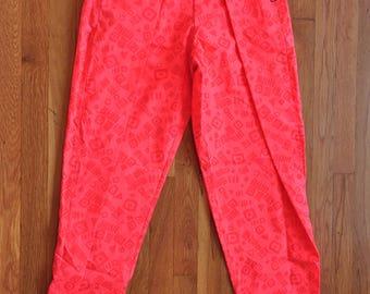"Vintage 1980s Gottfitt Neon ""Hammer Time"" Parachute Pants // DayGlo // MC // 80s // 90s // Hip-hop // Workout // Body Builder // Gym //"