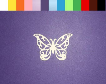 """Intricate Butterfly Die Cuts 1 1/2"""" x 1 3/8"""" - Color choice - 24 pc Cardstock Paper Butterfly Embellishments, Scrapbooking, Card Making"""