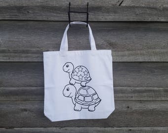 Color Your Own Tote, Christmas, DIY, Tote Bag, Children,