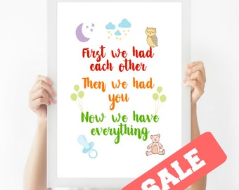 Nursery Wall Art, Wall Art, Wall Decor, Multicoloured Wall Art, Wall Hangings, Modern Wall Art, Modern Art Prints - SALE -