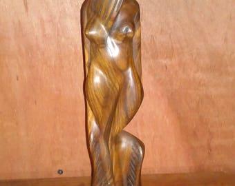 Guayacan wood lignum vitae handmade figure of a woman