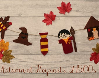 Harry Potter Bunting, Harry Potter Merch, Harry Potter Nursery, Harry Potter Wall Sign, Hogwarts Bunting, Gryffindor Bunting, Harry Potter