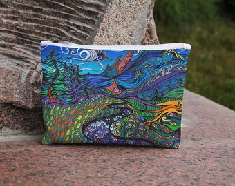 Psychedelic case, Acid bag, Cosmetic Bag,  Makeup bag, Zipper pouch, Accessory bag, Travel bag, Pencil Case, Toiletry bag, Cosmetic Case