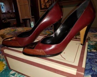 Vintage Ann Klein leather pumps