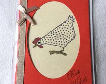 Chicken Birthday Card