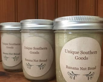 8oz Banana Nut Bread Soy Wax Candle