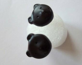 Jewellery earrings Bärchenform bear, Bärige earrings, bear